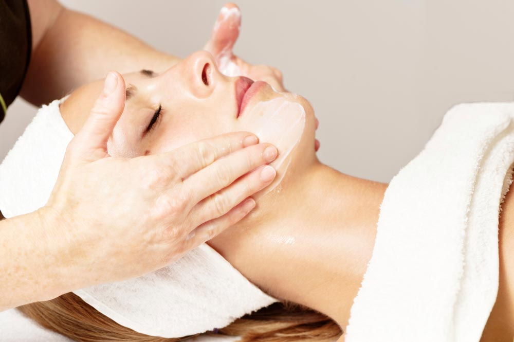 Facial after acupuncture